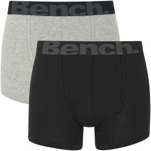Bench Herren 2er-Pack Boxershorts - Schwarz/Grau