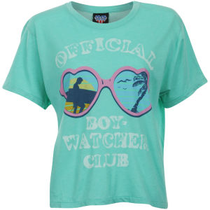 Junk Food Women's Boy Watcher Crop T-Shirt - Seafoam