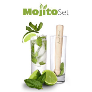 Mojito Glasses with Muddler