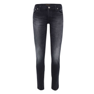 Nudie Women's Tight Long John Organic Skinny Jeans - Black Grey