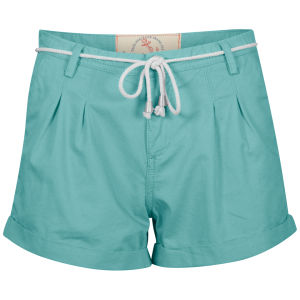 Brave Soul Women's Summer Shorts with Rope Belt - Green