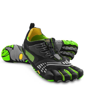 Vibram 5 Fingers Men's KMD Sport LS Running Trainers - Black/Grey/Green