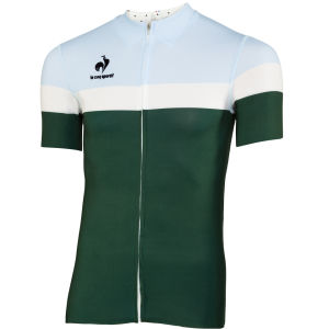 Le Coq Sportif Men's Cycling Performance Short Sleeve New Arac Jersey - Pineneedle