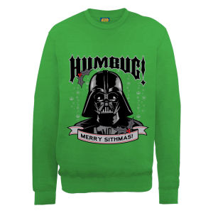 Star Wars Christmas Darth Vader Humbug Sweatshirt - Irish Green Merchandise |