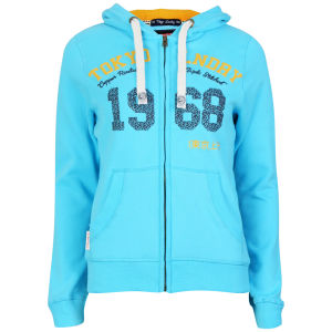 Tokyo Laundry Women's Zip Through Hoody - Sky Blue