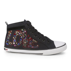 Love Moschino Women's Canvas Trainers - Black