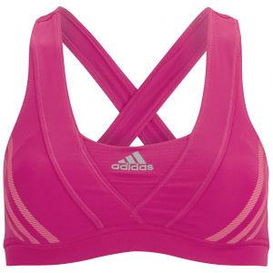 adidas Women's Super Nova Racer Running Bra - Vivid Berry/Pink