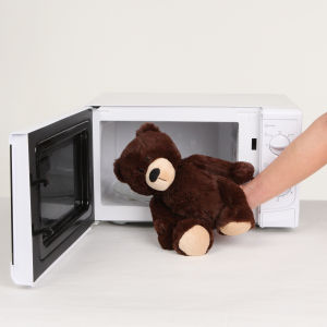 Cozy Heatable Plush Brown Bear