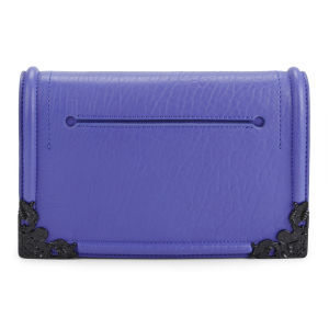 McQ Alexander McQueen Simple Fold Leather Clutch/Cross Body Bag - Cobalt
