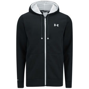 Under Armour Men's Storm Cotton Rival Full Zip Hoody - Black/White