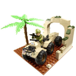H.M. Armed Forces: Character Building Army Quad Bike Set