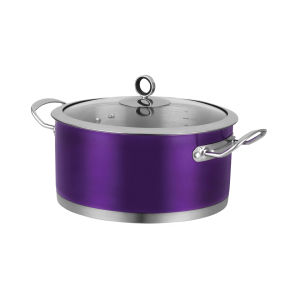 Morphy Richards 46373 Accents Casserole Dish - Plum - 24cm