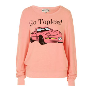 Wildfox Women's Go Topless Sweat - Teen Dream Pink