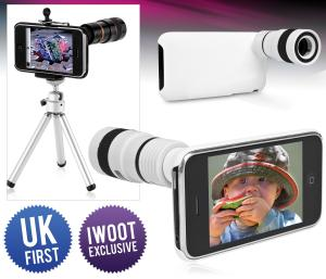 iPhone Telephoto Lens and Tripod for 3G/3GS - White