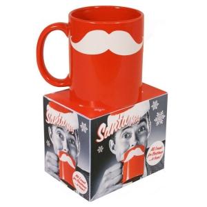 Santa Moustache Mug