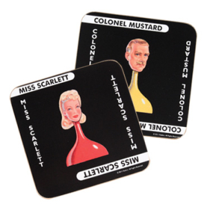 Cluedo Coasters - 6 Pack