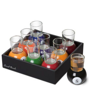 Pool Ball Shot Glasses