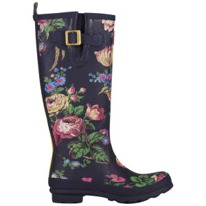 Joules Women's Welly Print Wellies - Navy Floral