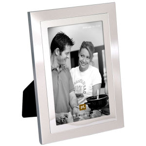 Present Time 2 Tone Steel Medium Photo Frame