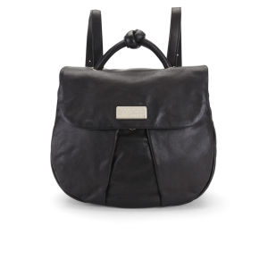Marc by Marc Jacobs Pleat Front Marchive Leather Backpack - Black