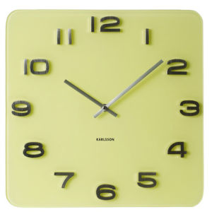 Karlsson Wall Clock Vintage - Yellow