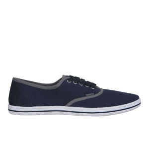 Ringspun Herren David Trim Canvas Pumps - Royalblau/Hellgrau