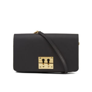 Sophie Hulme Women's Twin Keyhole Leather Clutch Bag - Black