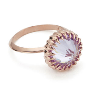 Katie Rowland Women's Mini Orb Ring - 18 Carat Rose Gold