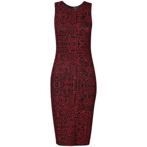 Club L Women's Inca Printed Midi Tube Dress - Red