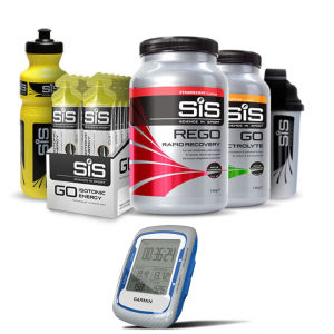 Garmin Edge 500 GPS Cycle Computer with SIS Nutrition Vanilla