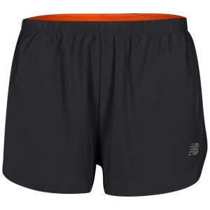 New Balance Men's Nbx Split Shorts - Black/Orange