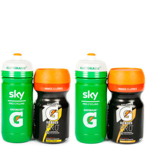 Gatorade G Series Pro 02 Perform Energy Drink Powder - 350g Tub - FREE Team Sky Bottle