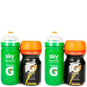 Gatorade G Series Pro 02 Perform Energy Drink Powder - 350g Tub - FREE Team Sky Bottle