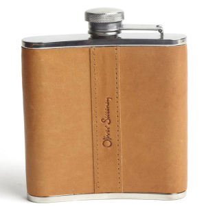 Oliver Sweeney Walton Leather Hip Flask - Tan