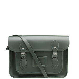 Cambridge Satchel Company 13 Inch Leather Satchel - Dark Olive