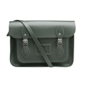 The Cambridge Satchel Company 13 Inch Classic Leather Satchel - Dark Olive