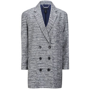 Marc by Marc Jacobs Women's Oversized Suit Coat - Normandy Blue Multi