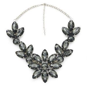 Impulse Women's Flower Gem Necklace - Green