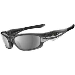 Oakley Men's Straight Jacket Iridium Sunglasses - Grey Smoke