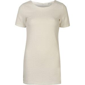 Glamorous Women's Short Sleeve Textured Shift Dress - White
