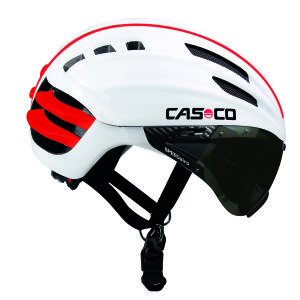 Casco Speedairo Helmet with Smoke Visor - White