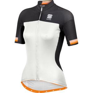 Sportful Bodyfit Pro Full Zip Jersey - White/Orange