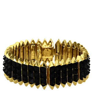 House of Harlow Infinite Pathway Bracelet - Gold/Black
