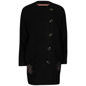 Odd Molly Women's Forawalk Wool Coat - Almost Black
