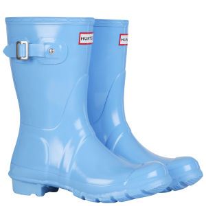 Hunter Women's Original Short Gloss Wellington Boots - Cornflower Blue
