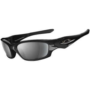 Oakley Men's Straight Jacket Polished Iridium Polarized Sunglasses - Black