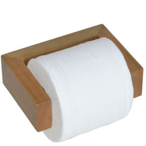 Wireworks Natural Oak Toilet Roll Holder