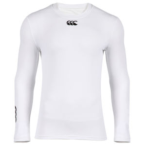Canterbury Men's Baselayer Cold Long Sleeve Top - White