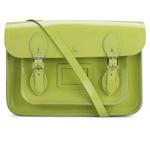 The Cambridge Satchel Company 13 Inch Patent Leather Satchel - Apple Green