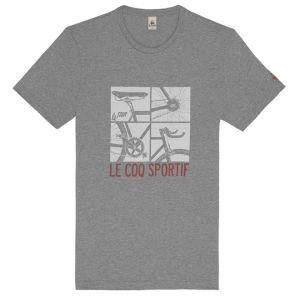 Le Coq Sportif Tour de France N12 Short Sleeved T-Shirt - Grey